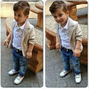 Conjunto Bege Slim Fit Luxo Social Menino Garoto Infantil