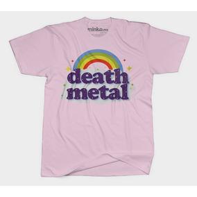 Minko. Death Metal Rainbow. Playera Excelente Calidad