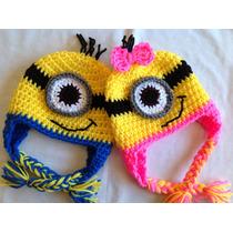 Gorro De Los Minnions Tejida A Crochet Y Otros Personajes