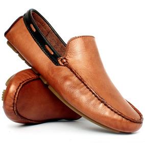 Mocassim Drive Sapato Masculino 100% Couro Palmilha Gel