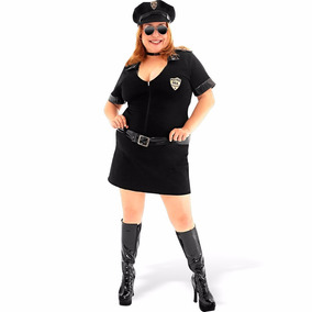 Fantasia Policial Preto Plus Size Sulamericana