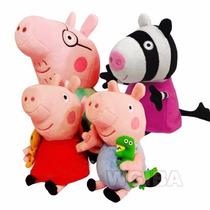 Peppa Pig Familia E Amiga Pelucia 4 Personagens George E Zoe