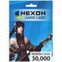 Nexon Game Card - Tarjeta Prepaga - 30,000 Nexon Cash Eu