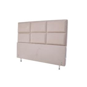 Cabeceira Estofada Para Cama Box Casal 127x142 Swede Bege