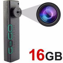 Botao Espiao Micro Camera Escondida Igual Caneta 16gb I 006
