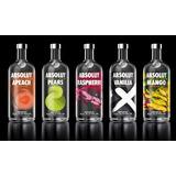 Lote Absolut Vodka Vacias