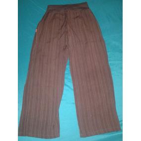 Pantalón De Tela Para Dama Talle1, Color Marrón, Nuevo Único