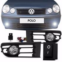 Kit Farol Milha Polo 2003 2004 2005 2006 Botão Universal