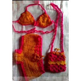 Traje De Baño Para Niña Tejido En Crochet