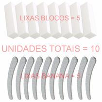 Kit Lixas Unhas De Gel / Acrílico 100/180 Profissional Fibra