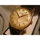 Precioso Reloj Superatic Cal.venus 202 Oro Plaque Seminuevo!