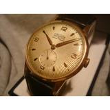 Precioso Reloj Superatic Cal.venus 202 Oro Plaque Seminuevo!
