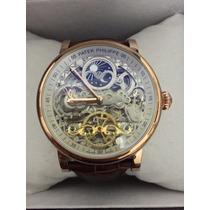 Frete Grátis - Relógio Patek Philipe Fases Da Lua Rose Gold