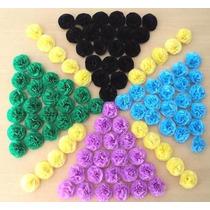 Bolsa Con 50 Flores De 5 Cm En Papel Crepe