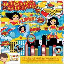 Kit Imprimible Mujer Maravilla Imagenes Clipart