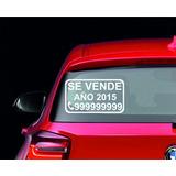 Sticker De Se Vende Para Autos Y Camionetas 33x19 Cm