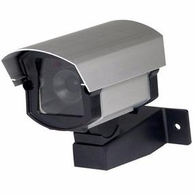 Micro Câmera Falsa Com Led Segurança Residencial Comercial
