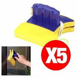 Pack 5 Limpia Vidrios Ventanas Magnetico Tipo Win Cleaner