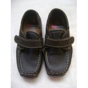 Zapatos Mocasines Cafe Bebe Niño Corte Vacuno Talla 17 1/2