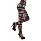 Leggins Pantalones Jeans Multicolor Diseño Arabescos Promo