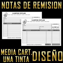 Millar Notas De Remisión Comandas Media Carta Sencillas