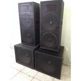 Caixa 2x15 Ti Sub 18 Meia Sb850 800w Oversound Usada 5 Vezes