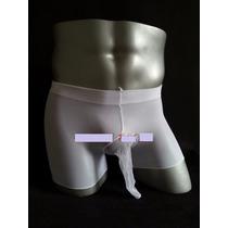 Boxer Para Hombre Blanco Con Vaina Cerrada, Transparente.