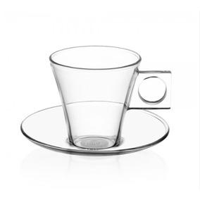 Dolce Gusto Set 2 Taza Espresso Vidrio Cristal Tazas Platos