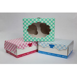 Cajas Para Dulces, Cupcakes, Galletas, Con Ventana Y Base