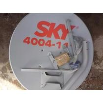 Kit C/ 03 Antenas Parabólicas Banda Ku 60cm Lnb Simples Univ
