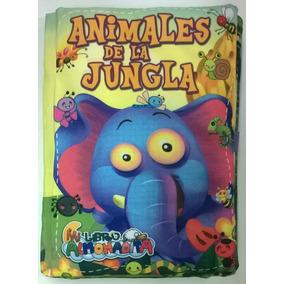 Libro Almohada De Tela Para Bebés Animales De La Jungla