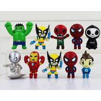 Hulk Iron Man Spider Man Surfista De Prata Panico Wolverine