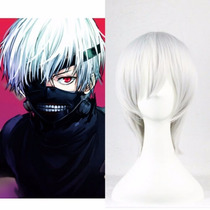 Cosplay Disfraz Peluca Blanca Anime Tokyo Ghoul Kaneki Ken