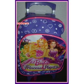 Mochila Infantil Escolar De Com Rodinhas Princesas Barbie 39