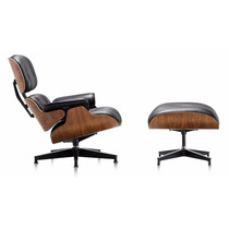 Cadeira Poltrona Charles Eames Com Puff - Design