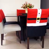 Capa De Natal P/ Cadeira Natalina Roupa Do Papai Noel