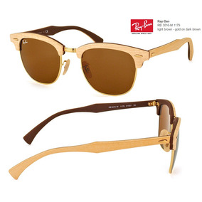 Ray Ban Clubmaster Wood Rb3016 Originales Made In Italy