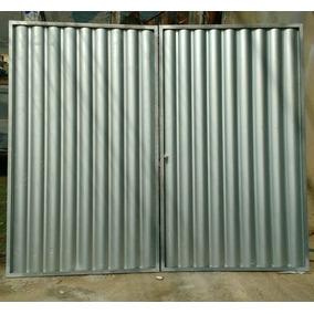 Portao De Garagem Galvanizado 2,32x2,06m