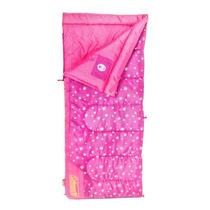 Bolsa De Dormir Sleeping Bag Infantil Rosa Brilla Oscuridad