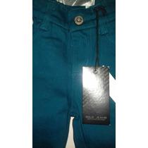Pantalon Color Verde Azulado ( Teal ) Para Niño Talla 4