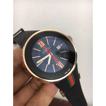Relógio Analógico Gucci Rose Mostrador Preto
