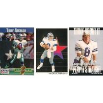 Troy Aikman Cowboys Dallas 2 Tarjetas Y 1 Mini Book
