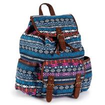 Aeropostale Mochila Azul Geo Stripe Backpack, 100% Original