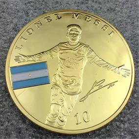 Leo Messi Medalla Homenaje Barcelona Baño En Oro Unica
