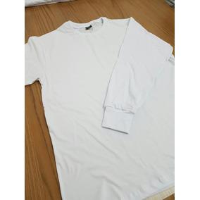Camiseta Lisa Manga Longa 100% Algodão Fio 30.1 Penteado