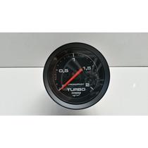 Manometro Turbo 2kg Cronomac Preto Garantia + Brinde
