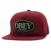 Boné Obey Global Snapback Wine Skate - Pronta Entrega