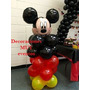 Decoracion Columna Globos Látex Para Mickey Minnie Leer Bien
