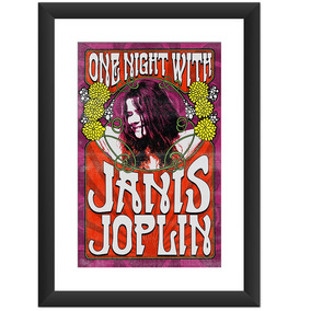 Quadro Janis Joplin Banda Rock Blues Retro Musica Decoracao