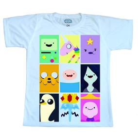 Camiseta Infantil Manga Curta Turma Hora De Aventura